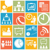 Business office icon and symbol set stock photography