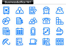 Business/office icons (1) Stock Photos