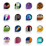 Business and office icons. Vector icon set Royalty Free Stock Photos
