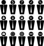 Business and office icons. 15 Business and office icons isolated on white Stock Photography