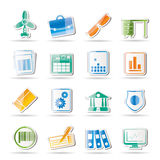 Business and Office Icons Stock Images