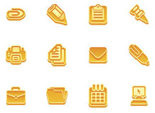 Business and office icons. Illustration of a set of business and office icons Royalty Free Stock Photography