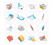 Business & office icons 1of 3 Royalty Free Stock Photo