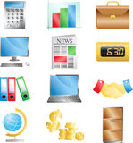 Business office icons. A vector illustration of business office icons Royalty Free Stock Images