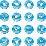 Business and office icons. Royalty Free Stock Photo