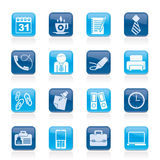 Business and office icons Stock Photography