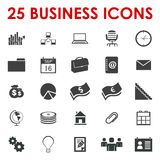 Business office icons. 25 Business office icons Royalty Free Stock Image