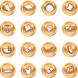 Business and office icons. Royalty Free Stock Image