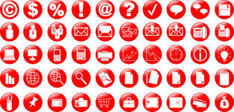 Business and office icons. Business and office 50 icons Stock Images