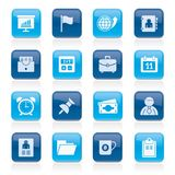 Business and office icons. Vector icon set Stock Photo