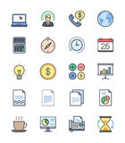 Business & Office icons, Color set 2 - Vector Illustration Royalty Free Stock Images