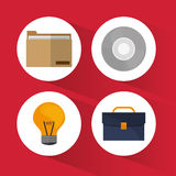 Business and office icons design Stock Photography