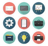 Business and Office Icons. Business and Office flat icons pack Stock Photos