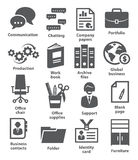 Business office icons Stock Photos