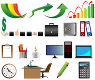 Business Office icons  illustration Stock Photography