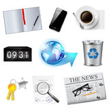 Business and office icons. Illustration of business and office icons set Stock Photo