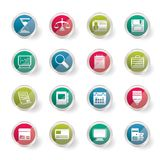 Business and office Icons over colored background. Vector Icon Set Stock Photography