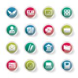 Business and office icons over colored background. Business and office icons  over colored background- Vector Icon Set Stock Image