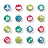 Business and Office Icons over colored background. Vector Icon Set 2 Stock Images