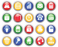 Business and office icons set Stock Photography