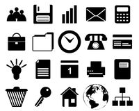 Business and office icons set. Business and office set of different vector web icons