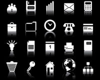 Business and office icons set Royalty Free Stock Images