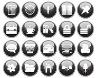 Business and office icons set. Business and office set of different vector web icons Royalty Free Stock Image