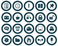 Business and office icons set. Business and office set of different vector web icons Stock Photography