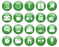Business and office icons set. Business and office set of different vector web icons Royalty Free Stock Photos