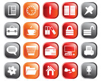 Business and office icons set. Business and office set of different vector web icons Stock Photos