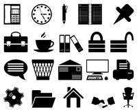 Business and office icons set. Business and office set of different vector web icons Stock Images
