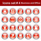 Business and office icons set Stock Images
