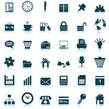 Business and office icons set royalty free illustration