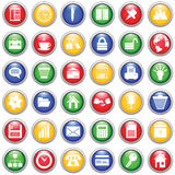 Business and office icons set. Business and office set of different vector web icons Royalty Free Stock Photography