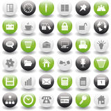 Business and office icons set royalty free stock photos