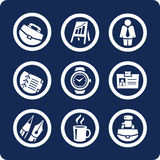 Business and Office icons (set 5, part 1) Stock Photos