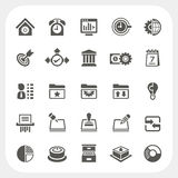Business and office icons set. EPS10, Don't use transparency Stock Images