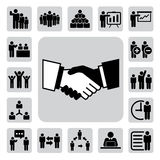 Business and office icons set. Illustration Royalty Free Stock Images