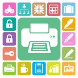Business and office icons set. Illustration royalty free illustration