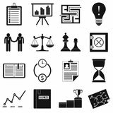 Business office icons set, simple style. Business office and marketing  icons set in simple style on a white background Royalty Free Stock Images
