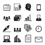 Business and office icons Set. Vector Illustration Graphic Design stock illustration