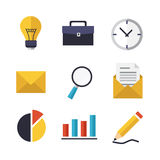 Business and Office icons set. Set of vector business and office icons. Isolated elements Royalty Free Stock Image