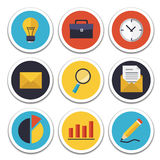 Business and Office icons set Royalty Free Stock Image