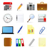 Business and office icons set. Stock Photo