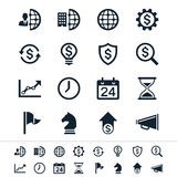 Business and management icons Royalty Free Stock Photos
