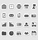 Business and office icons, stikers Stock Photos