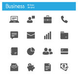 Business and Office icons vector flat Stock Image