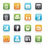 Business and office icons Royalty Free Stock Images