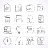 Business and office icons Stock Photos