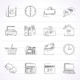 Business and office icons. Vector icon set vector illustration